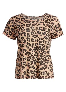 Mother Denim Itty Bitty Sinful Cheetah-Print Tee