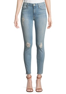 Mother Denim Looker Ankle Fray Skinny Jeans
