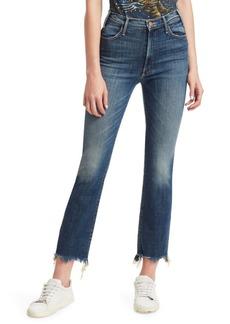 Mother Denim Looker High-Rise Step Hem Ankle Jeans