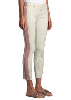 Mother Denim Looker Side-Stripe Ankle Skinny Jeans