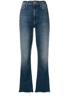 Mother Denim loose fitted cropped jeans