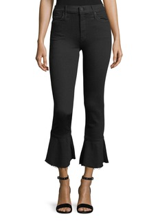 Mother Denim Mother Cha Cha Cropped Bell Flare Jeans