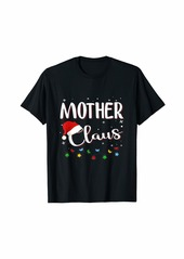 Mother Denim Mother Claus Family Matching Pajama Santa Christmas T-Shirt