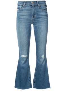 Mother Denim cropped flared jeans