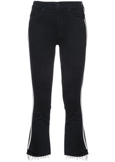 Mother Denim cropped racer jeans