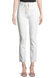Mother Denim MOTHER Dazzler Lace-Up Ankle Skinny Jeans