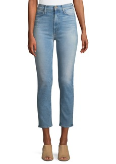 Mother Denim MOTHER Dazzler Straight-Leg Ankle-Length Jeans