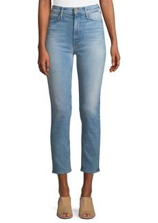 Mother Denim Dazzler Straight-Leg Ankle-Length Jeans