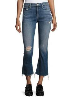 Mother Denim Insider Crop Fray Jeans