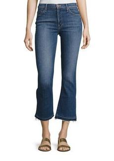 Mother Denim Insider Crop Undone-Hem Jeans