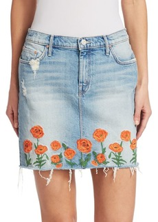 Mother Denim Denim Mini Skirt