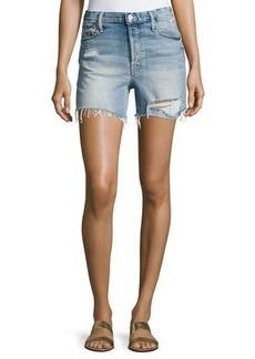 Mother Denim Proper High-Rise Denim Shorts