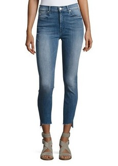 Mother Denim Stunner Zip Ankle Step Fray Jeans