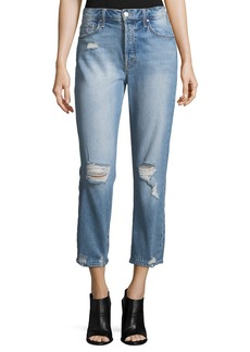 Mother Denim The Tomcat High-Rise Distressed Jeans