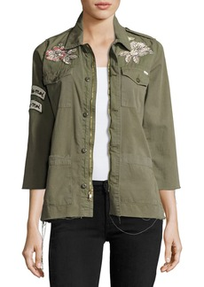 Mother Denim Top Brass Fray Utility Jacket