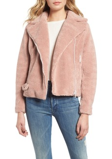 Mother Denim MOTHER Faux Fur Moto Jacket