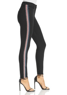 Mother Denim MOTHER High-Rise Cropped Skinny Jeans in Guilty Glitter Racer