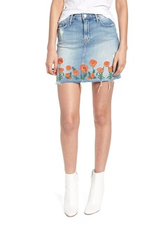 Mother Denim MOTHER High Waist Fray Straight Denim Miniskirt (Quite Contrary)