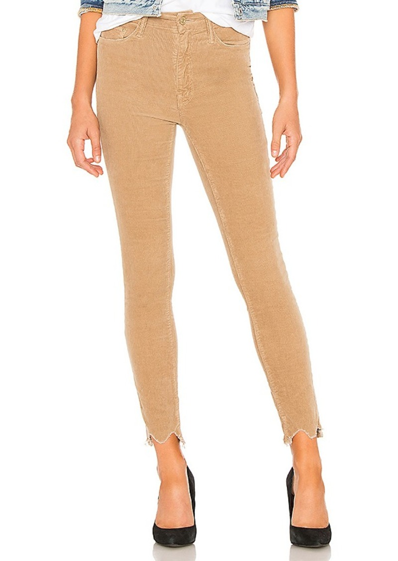 3789badb72663 Mother Denim MOTHER High Waisted Looker Ankle Chew Corduroy