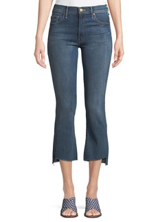 Mother Denim Insider Crop Frayed Jeans