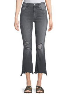 Mother Denim Insider Crop Step Chew Jeans