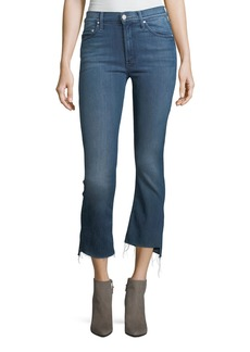 Mother Denim Insider Crop Step-Fray Denim Jeans