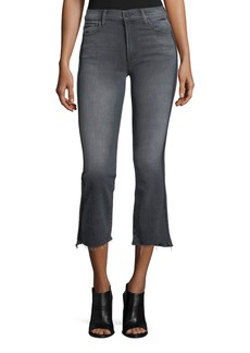 Mother Denim Insider Crop Step Fray Jeans with Side Stripes