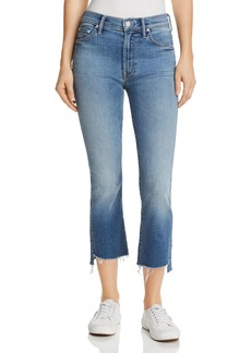 Mother Denim MOTHER Insider Crop Step-Hem Fray Jeans in One Smart - 100% Exclusive