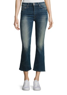 Mother Denim Mother Insider Mid-Rise Flared Crop Jeans