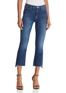 Mother Denim MOTHER Insider Step-Hem Cropped Flared Jeans in The Royal Treatment