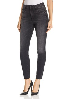 Mother Denim MOTHER Looker High-Rise Ankle Fray Skinny Jeans in Night Hawk