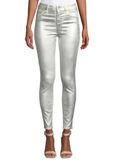Mother Denim MOTHER Looker Metallic High-Waist Skinny Jeans