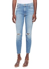 Mother Denim MOTHER Looker Ripped High Waist Fray Ankle Skinny Jeans (Thrilling Shots)