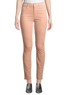 Mother Denim MOTHER Looker Velour High-Waist Skinny Ankle Jeans