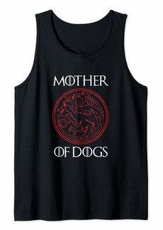 Mother Denim Mother of Dogs Women Shirt Gifts for Mom Wife Auntie Grandma Tank Top