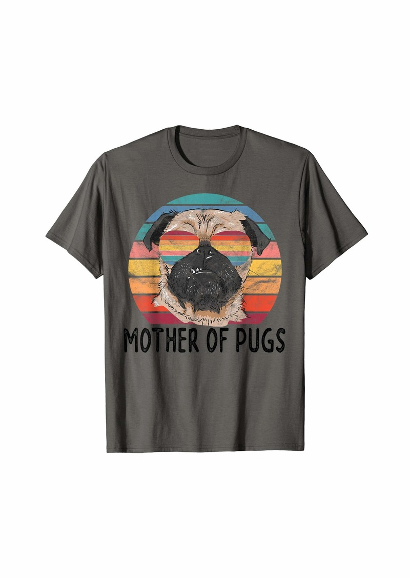 Mother Denim Mother of Pugs Pug Dog Mom Gifts T-Shirt