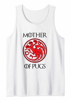 Mother Denim Mother of Pugs Shirt for Mom Wife Auntie Grandma Women Gifts Tank Top