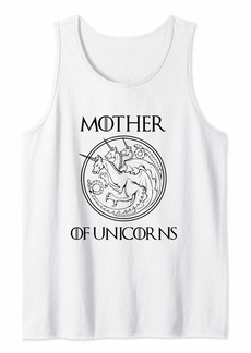 Mother Denim Mother of Unicorns Shirt for Women Gifts for Mom Wife Auntie Tank Top