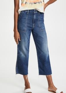 Mother Denim MOTHER Patch Pocket Zip Ankle Fray Jeans