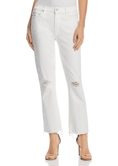 Mother Denim MOTHER Rascal Ankle Fray Cropped Flared Jeans in Little Miss Innocent - 100% Exclusive