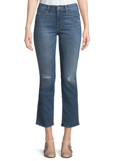 Mother Denim Mother Rascal Flared-Leg Ankle Jeans