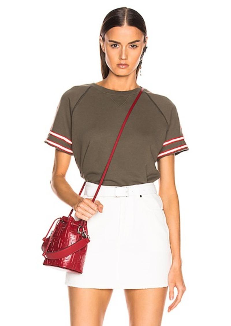 Mother Denim MOTHER Short Sleeve Square Sweatshirt