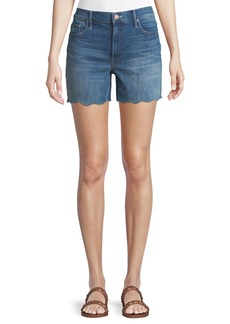 Mother Denim MOTHER Sinner Frayed Denim Shorts