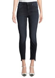 Mother Denim Stunner Zip Two Step Fray Skinny Jeans