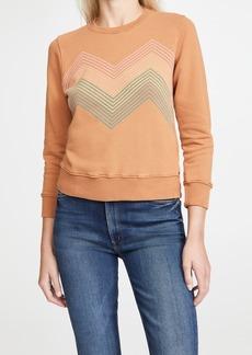 Mother Denim MOTHER The 3/4 Sleeve Koozie Sweatshirt