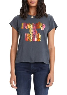 Mother Denim MOTHER 'The Boxy Goodie Goodie' Cotton Graphic Tee