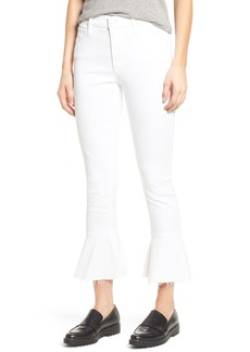 Mother Denim MOTHER The Cha Cha Frayed Crop Flare Jeans (Glass Slipper)