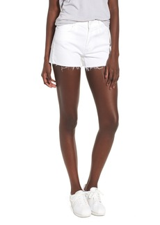 Mother Denim MOTHER The Charmer Fray Denim Shorts (Glass Slipper)