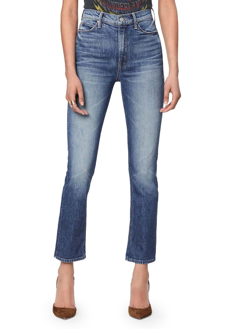 MOTHER The Dazzler Ankle Straight Leg Jeans (Cowboys Don't Cry)