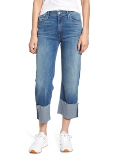 Mother Denim MOTHER The Dusty Cuff Fray Straight Leg Jeans (Mums the Word)